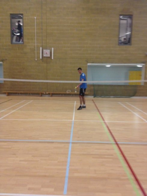 badminton in attempt to get fit.